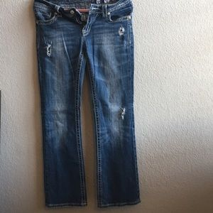 Miss Me distressed boot cut jeans size 30
